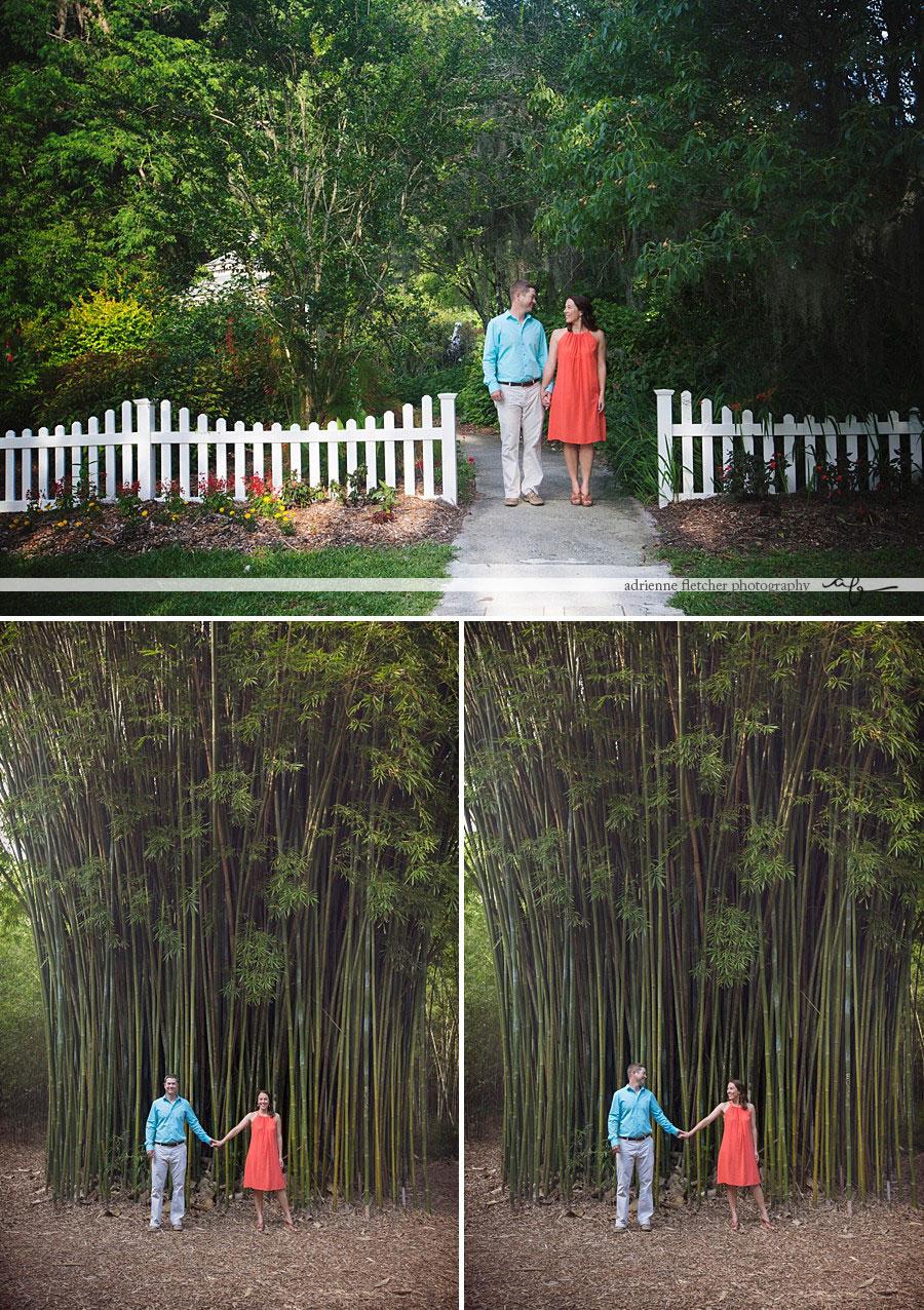 portrait of couple in gardens
