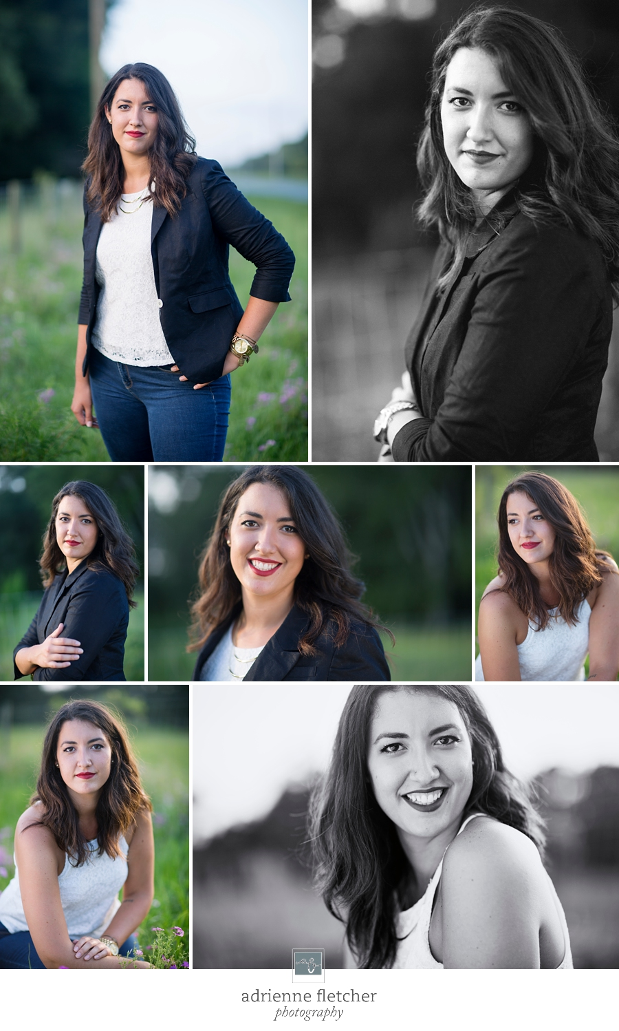 collage of professional head shot of local creative director