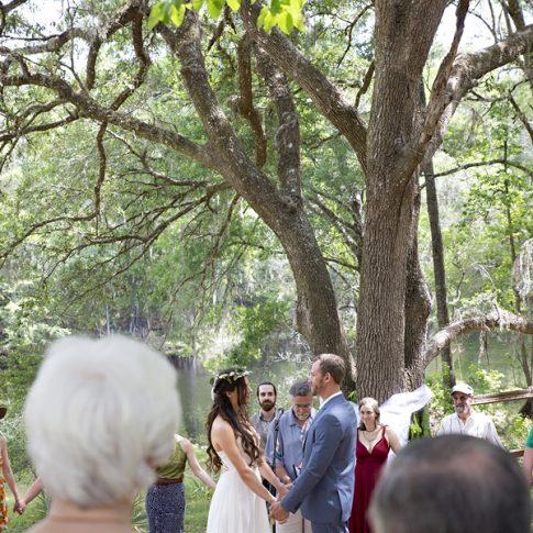outdoor wedding undertree
