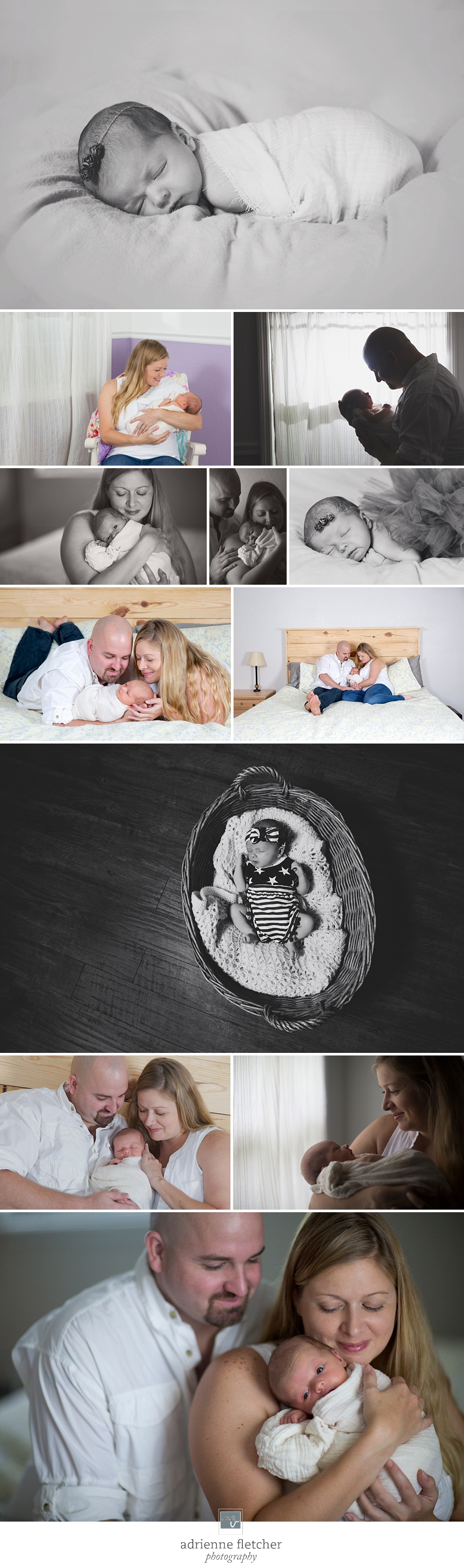 newborn lifestyle portraits with parents in home