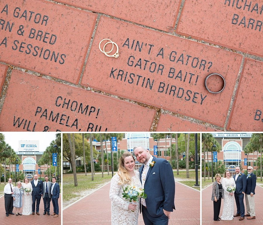 wedding rings on the gator walk