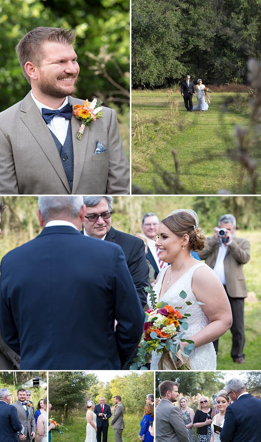 paynes prairie elopement ceremony