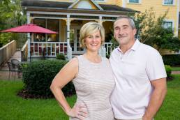 husband and wife owners of local bed and breakfast