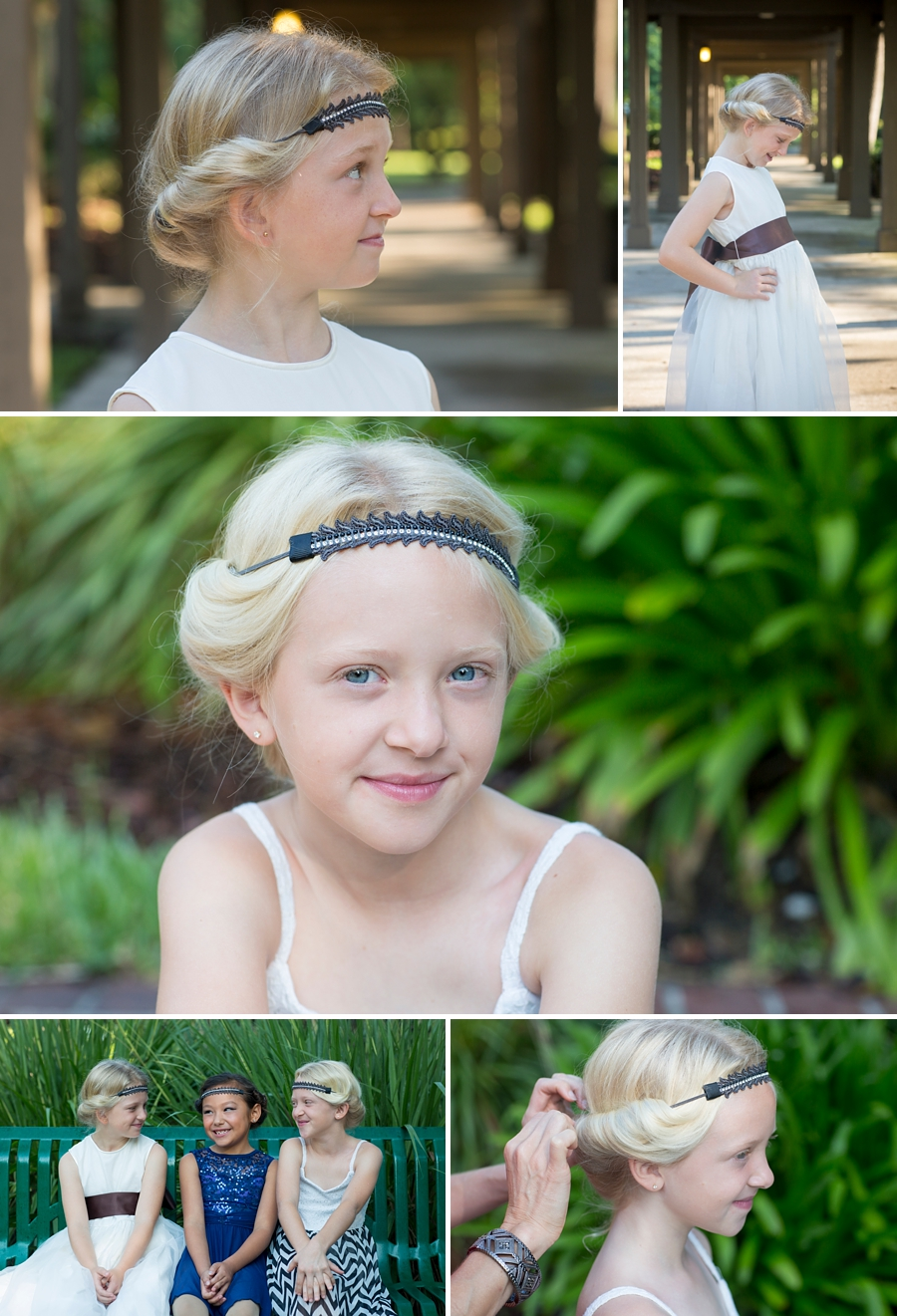 girls wearing a halo curlers