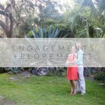 engagement photos of couple at botanical gardens