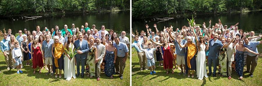group shot at wedding