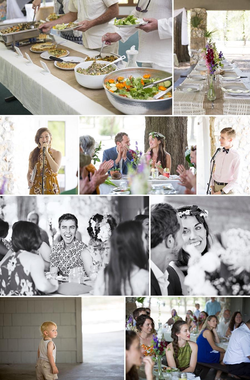 guests eating at reception
