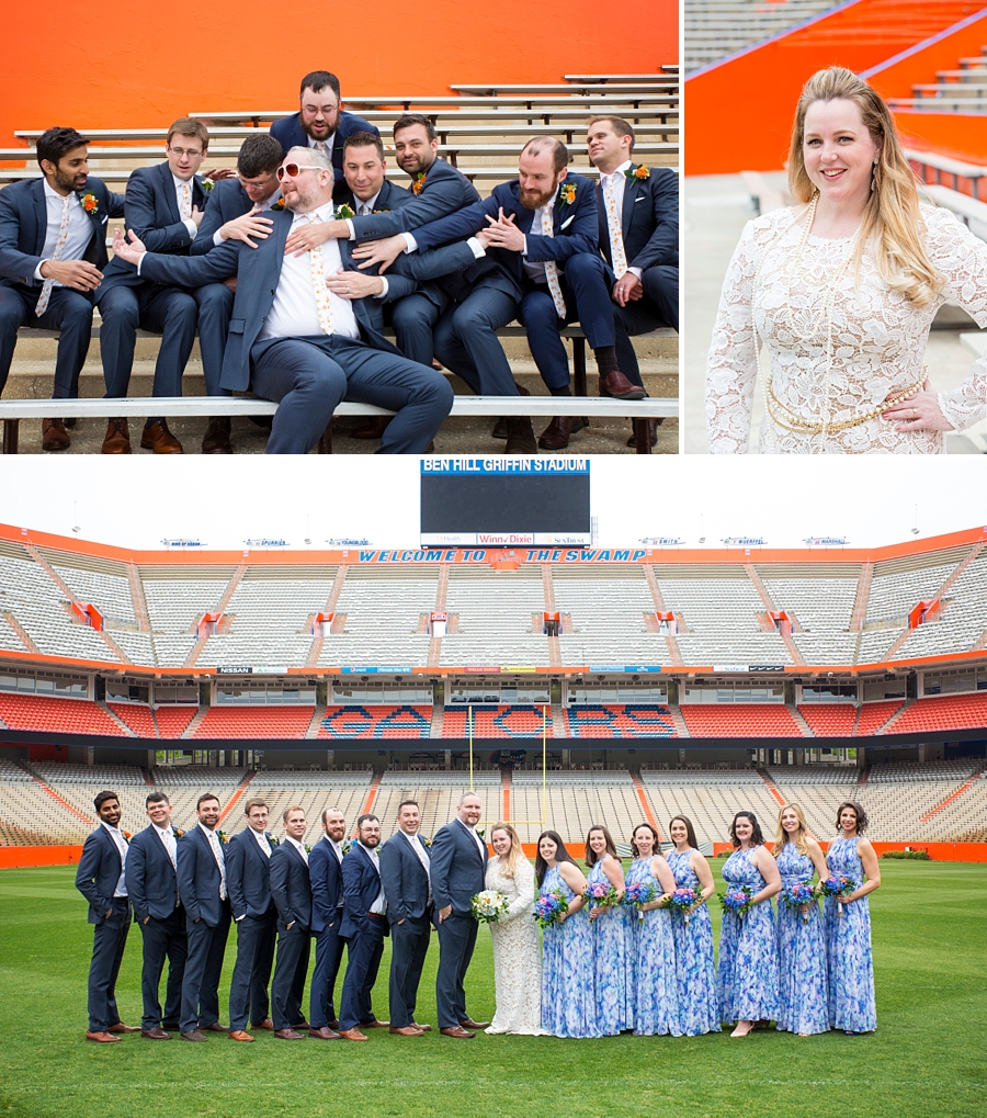 bridal party at the swamp