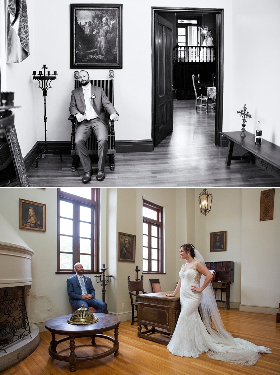 bride and groom in governor's office st. augustine