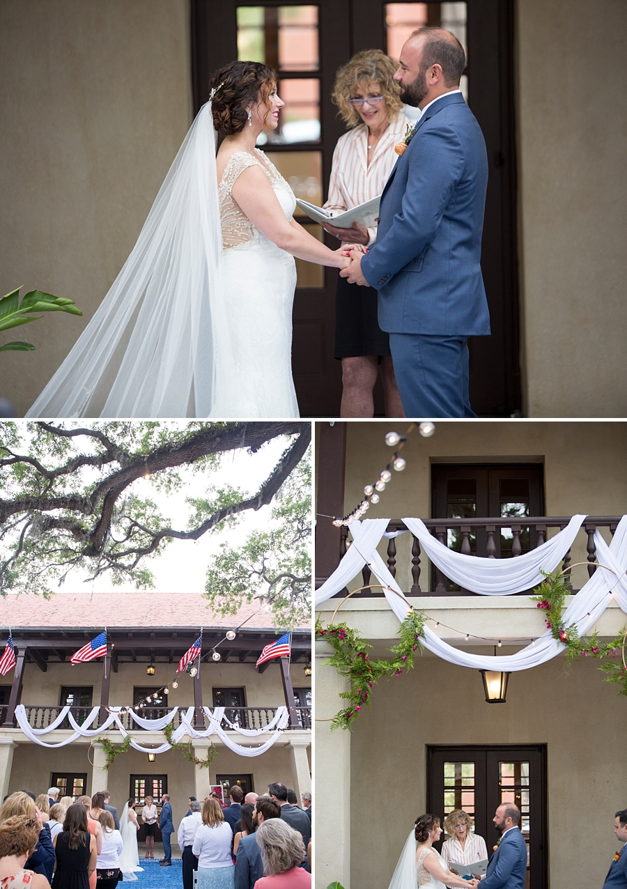 wedding ceremony at the government house in st augustine