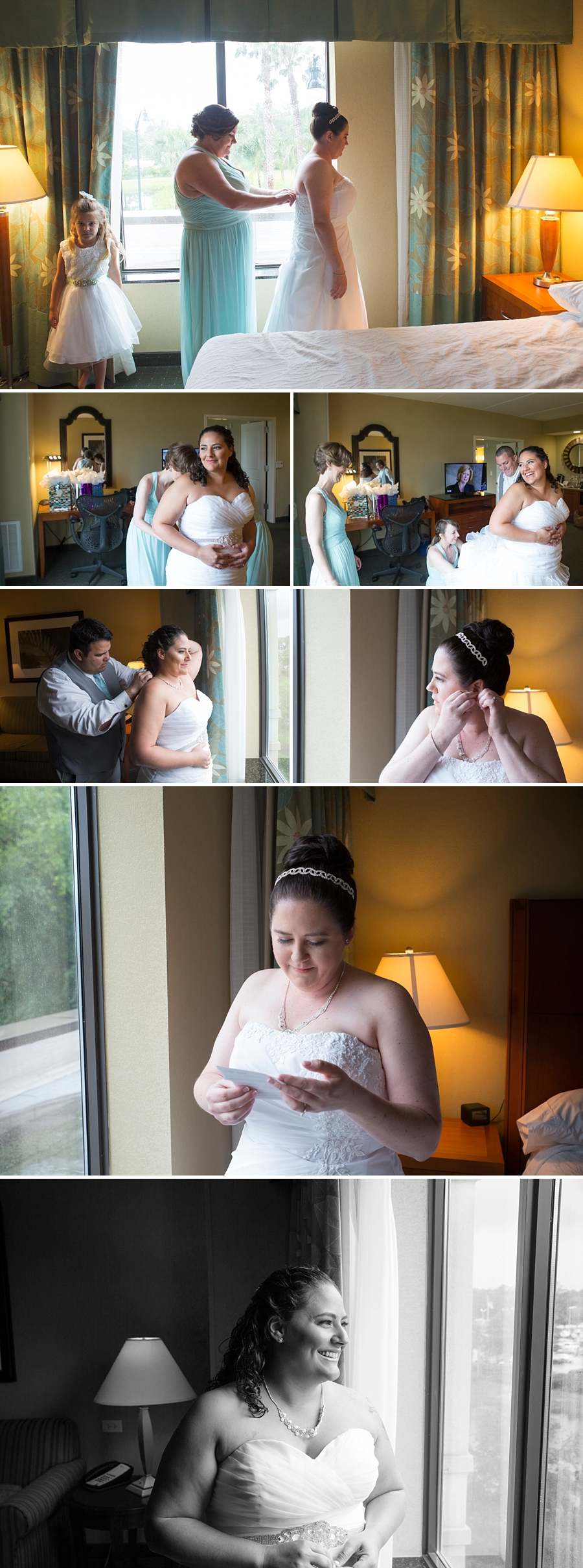 brides getting ready