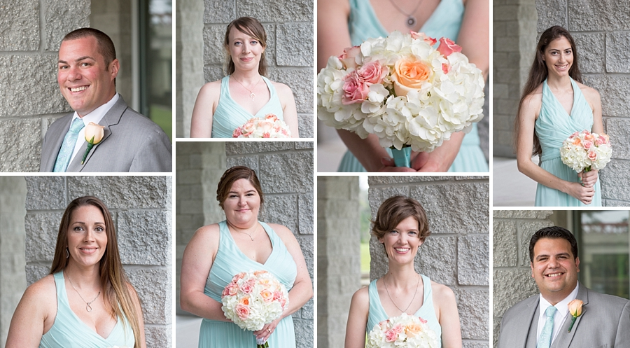 bridal party closeups