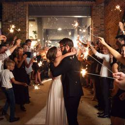 wedding photo at night