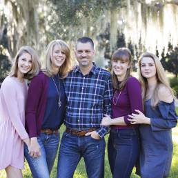 family portrait at the Thomas Center in Gainesville FL