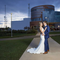 couple in front of Cade Museum