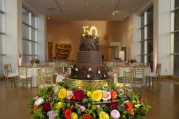 large cake for 50th birthday