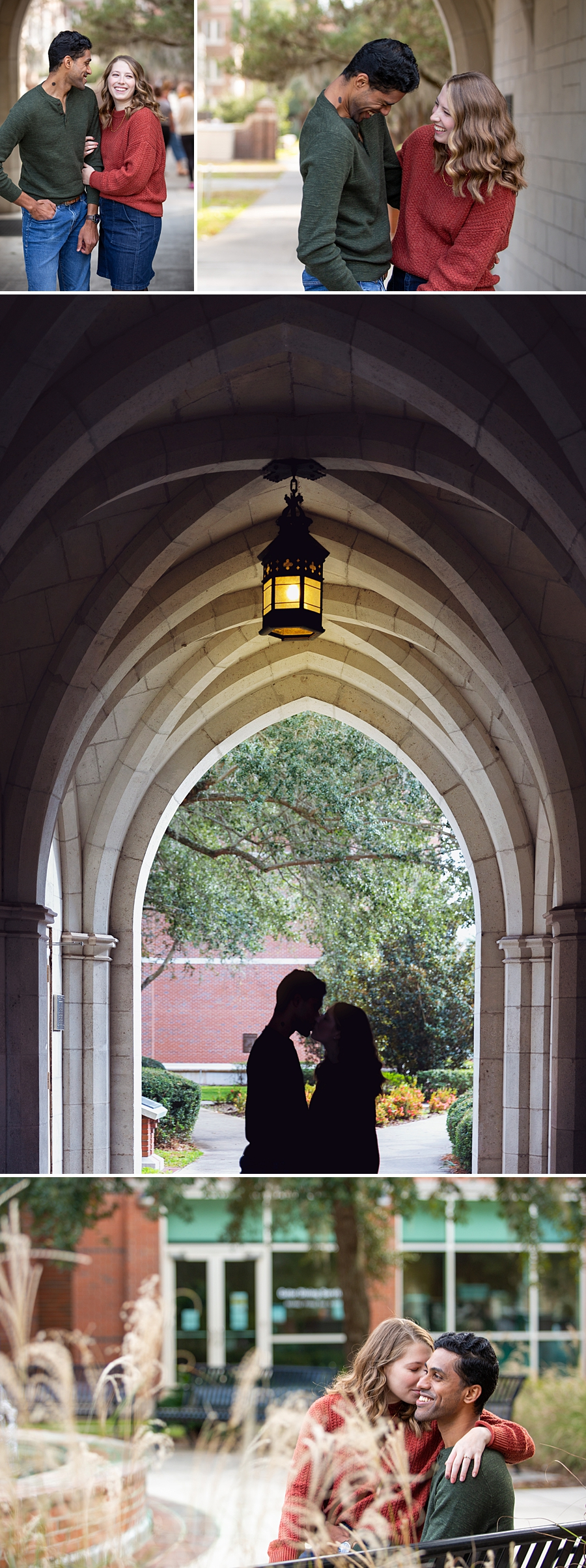 Engagement session on UF campus