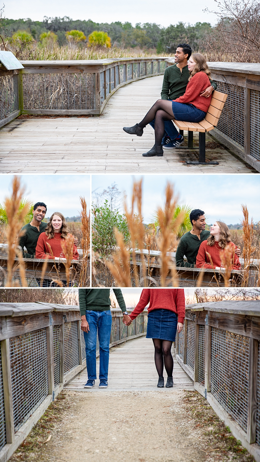 Engagement session at sweetwater wetland preserve