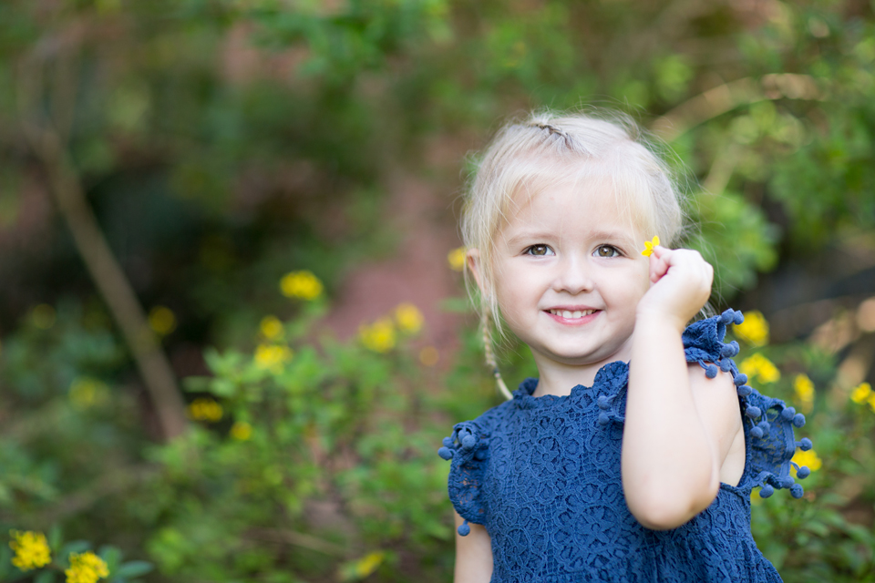 textured blue dress on little girl