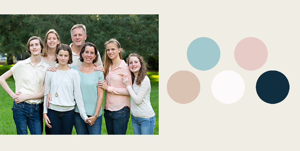 beige and pink style family portraits
